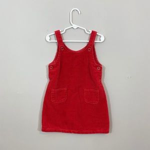 Gymboree Red Overall Jumper